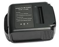 Аккумулятор PowerPlant для шуруповертов и электроинструментов DeWALT GD-DE-14.4(C) 14.4V 4Ah Li-Ion, фото 1