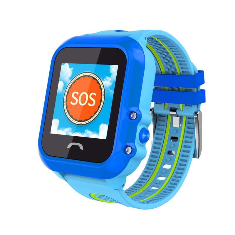 """Дитячий розумний годинник SUNROZ DF27 смарт-годинник 1.22"""" GPS Блакитний (SUN4547)"""