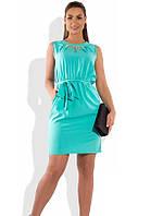 Женское платье мини ментолового цвета размеры от XL ПБ-580