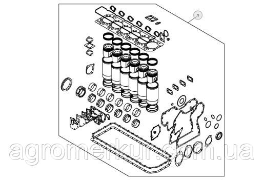 Комплект для ремонту двигуна 6.8 л. John Deere