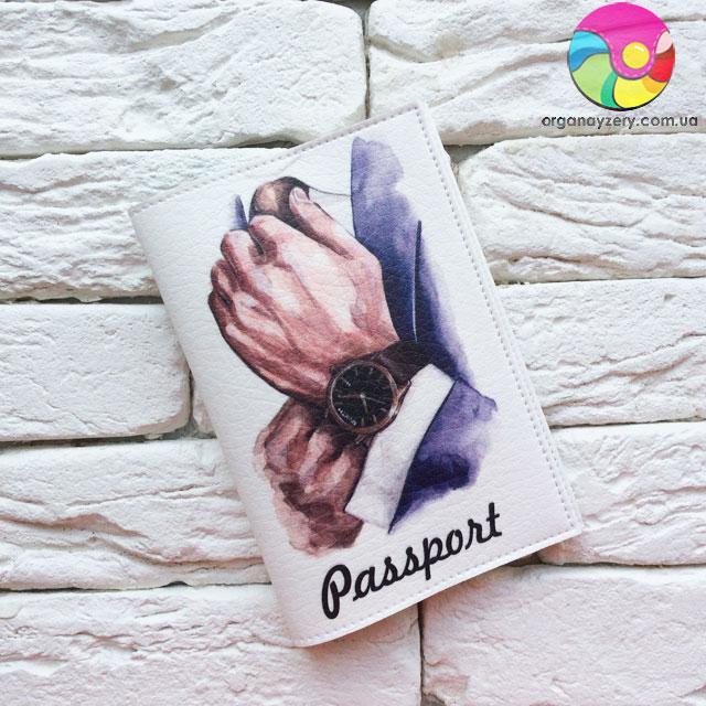Обложка для паспорта Часы