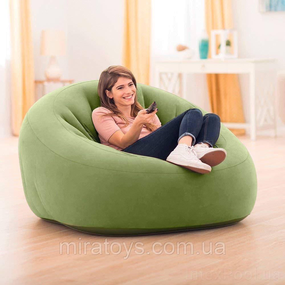 ✅Надувное кресло Intex 68576, 124 х 119 х 76 см