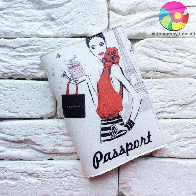 Обкладинка для паспорта Каріна