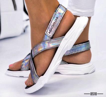 Женские босоножки, сандалии на липучкt в стиле Balenciaga натуральная кожа