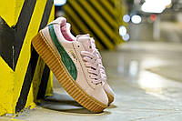 Замшевые женские кроссовки Puma 36-39 размеры,, розовые, на высокой подошве.