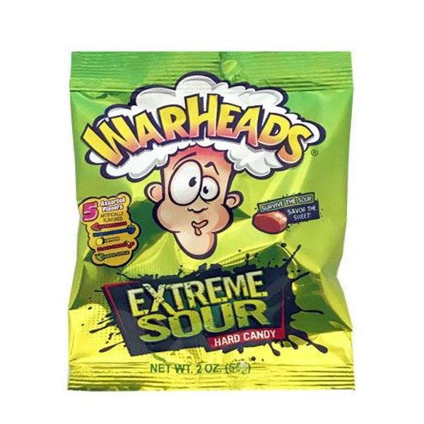 Кислые конфеты Warheads Extreme Sour Hard Candy 28 g