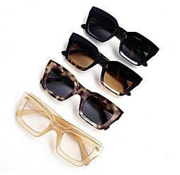 Квадратные очки в пластиковой оправе v9557