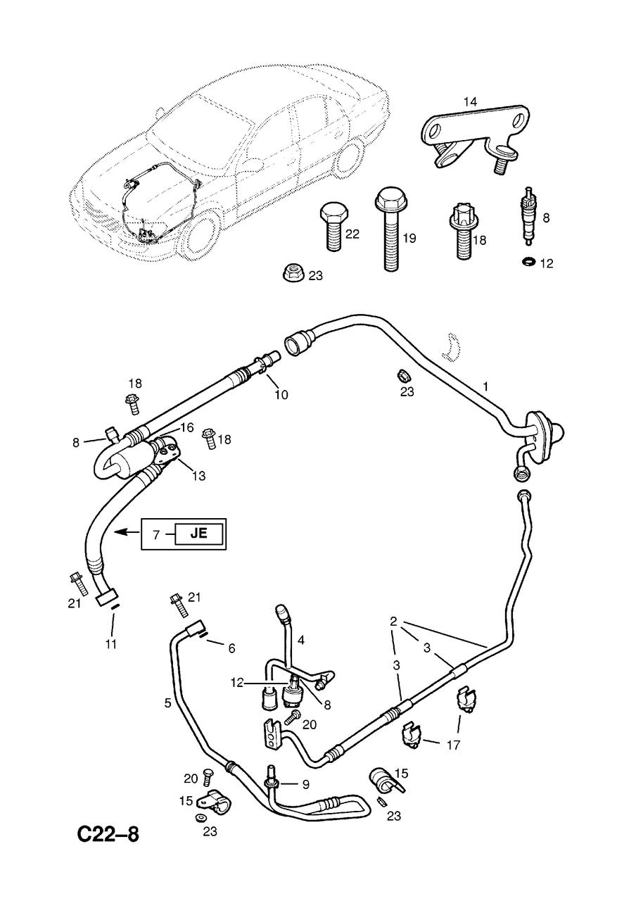 Кольцо уплотнительное (прокладка резиновая, сальник) трубки кондиционера GM 1850731 90564675 OPEL Omega-B