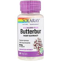 Solaray, Экстракт корня белокопытника, 50 мг, 60 вегетарианских капсул