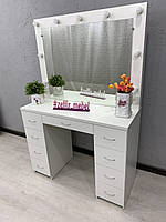 Стол для макияжа с зеркалом, стол для визажиста
