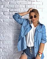 Женская рубашка из легкого джинса (джинсовая), фото 1