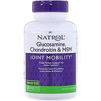 Глюкозамин, хондроитин и МСМ, Natrol, 150 таблеток