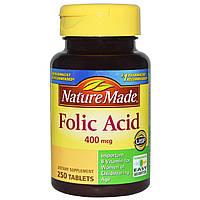 Фолиевая кислота, Nature Made, 400 мкг, 250 таблеток