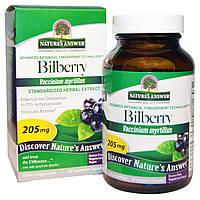 Nature's Answer, Черника, стандартизированный растительный экстракт, 205 мг, 90 вегетарианских капсул