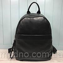 Жіночий шкіряний міський рюкзак на два відділення, фото 3