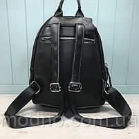 Жіночий шкіряний міський рюкзак на два відділення, фото 5