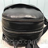 Жіночий шкіряний міський рюкзак на два відділення, фото 6