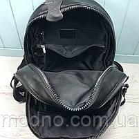 Жіночий шкіряний міський рюкзак на два відділення, фото 7