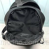 Жіночий шкіряний міський рюкзак на два відділення, фото 8