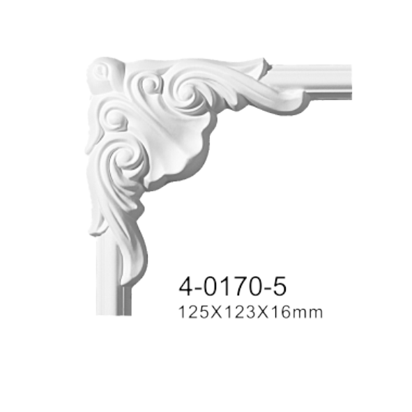 Угловой элемент Classic Home 4-0170-5 , лепной декор из полиуретана 125*123