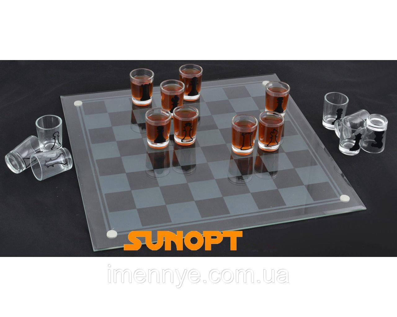 """Алко игра """"Шахматы"""" с рюмками"""