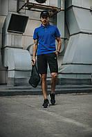 Костюм Футболка Поло електрик + Шорты + Кепка Черная(С Белым Логотипом).  Барсетка в подарок! Nike (Найк)