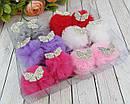 Заколки для волос фатиновые шарики с бантиками в стразах 12 шт/уп., фото 2