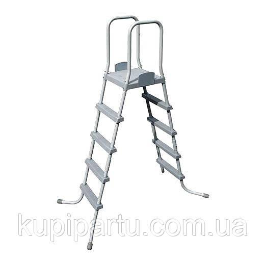 Лестница для бассейнов  58337, со съемными ступенями, высота 132 см