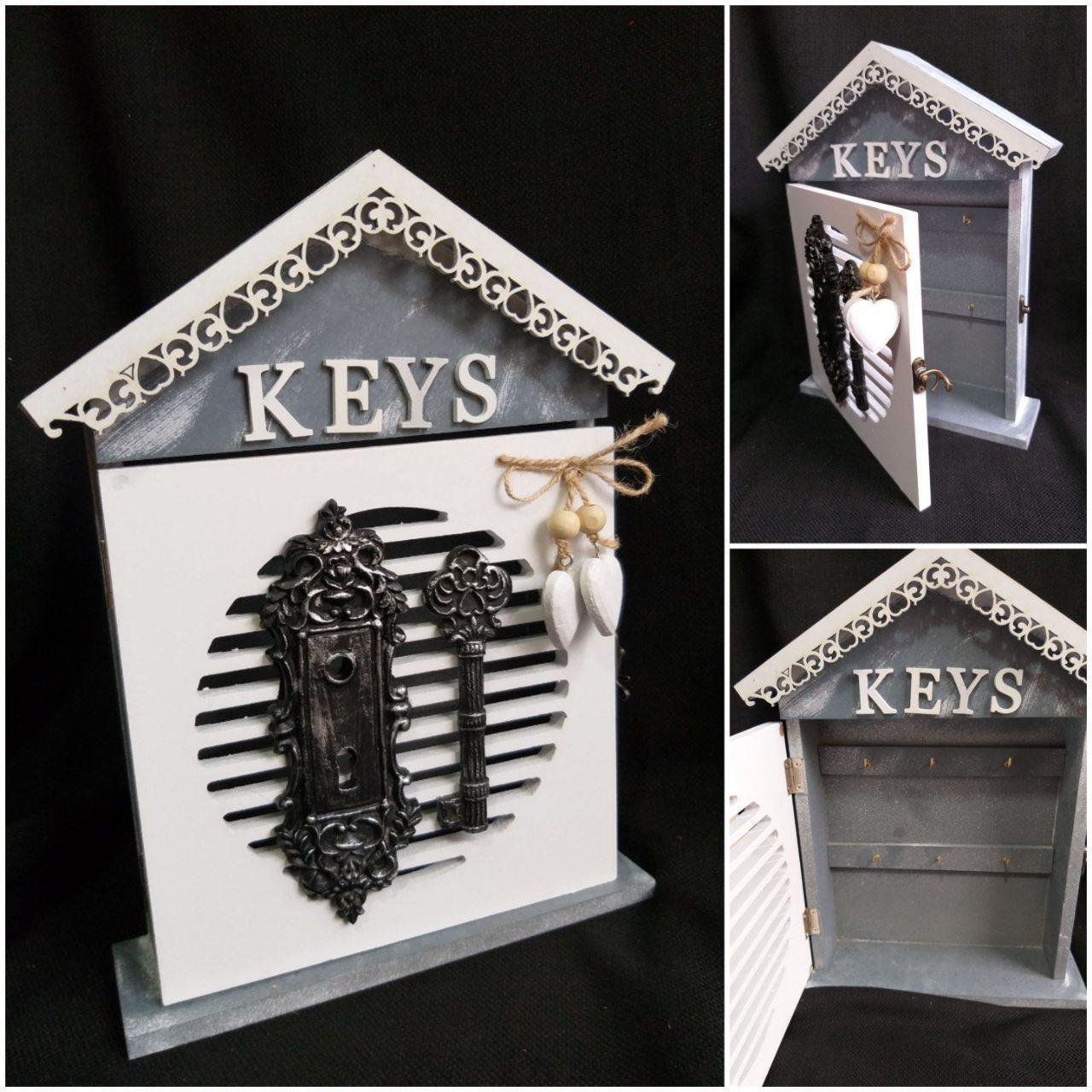 Оригинальная ключница KEYS на 6 ключей с замком, 30х23.5х5 см., 390/360 (цена за 1 шт. + 30 гр.)