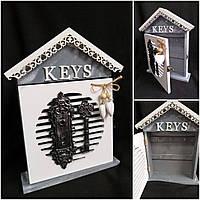 Оригинальная ключница KEYS на 6 ключей с замком, 30х23.5х5 см., 390/360 (цена за 1 шт. + 30 гр.), фото 1