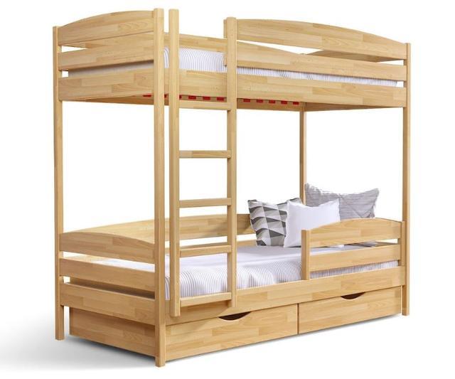 Кровать двухъярусная Дуэт плюс натуральное дерево