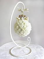 Декор шар на подставке для интерьера или свадьбы в стиле шебби-шик айвори Luxury Ivory