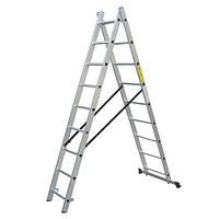 Прокат лестницы универсальной 2 секции, 8 ступеней, 3,7/2,3 м
