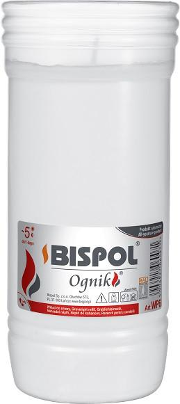 Свеча вкладыш сменная Bispol Ognik 6 дней 18 х 7,5-8,5 см (WP6)