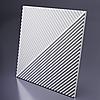 Декоративные гипсовые 3D панели «Диагональ двойная»