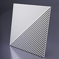 Декоративные гипсовые 3D панели «Диагональ двойная» , фото 1