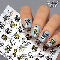 Слайдер-дизайн для ногтей лисички