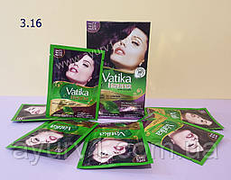 Краска на основе хны, сливовый цет 3,16 / Vatika Hair Colour Powder / 60 г (6 пакетиков по 10 г )