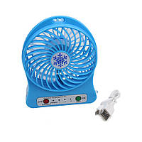 Міні-вентилятор Portable Fan Mini Блакитний