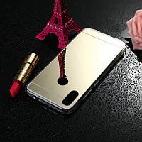 Чехол Mirror case для Xiaomi Redmi Note 7 / Note 7 Pro / Global силикон зеркальный золотой