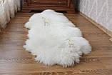 Ковер натуральный белый из 2-х овечьих шкур 2в1, фото 2