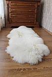 Ковер натуральный белый из 2-х овечьих шкур 2в1, фото 6