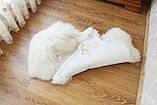 Ковер натуральный белый из 2-х овечьих шкур 2в1, фото 8