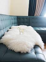Ковер из белых шкур, размер 180х70