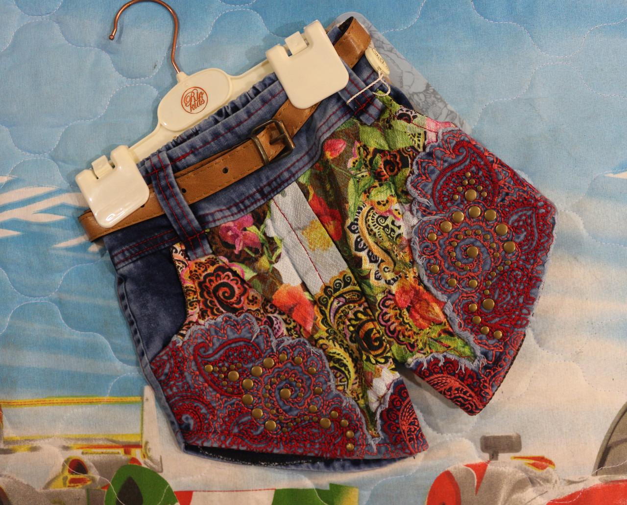Джинсовая шорты на девочку 2,3,4,5 лет