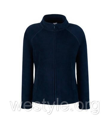 Толстовка флисовая на молнии женская - 62066-AZ глубокий темно-синий