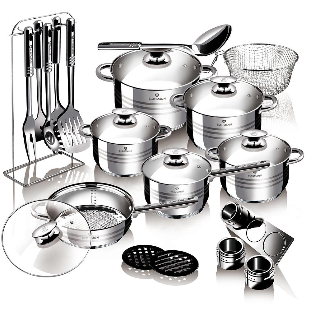 Уникальный набор посуды Blaumann BL-3134 на 27 предметов с многослойным дном