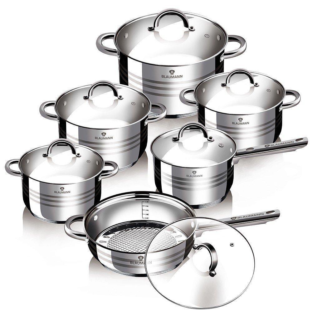 Уникальный набор посуды Blaumann BL-1410 на 12 предметов с многослойным дном