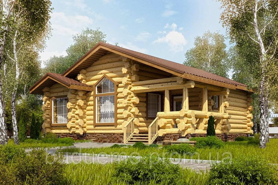 Будівництво будинків з дикого брусу