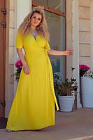 Платье женское длинное в пол креп шифон разные цвета размеры:48-50,52-54,56-58,60-62